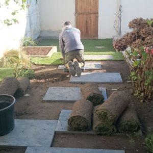 AR' Paysage pelouse en rouleaux création entretien de jardin aménagement paysager paysagiste Nantes (44)